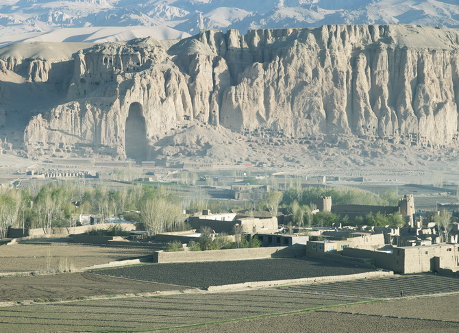 View of the big Buddha at Bamiyan, April 2011