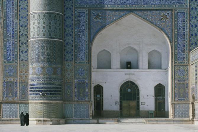 In the Blue Mosque of Herat, January 2011