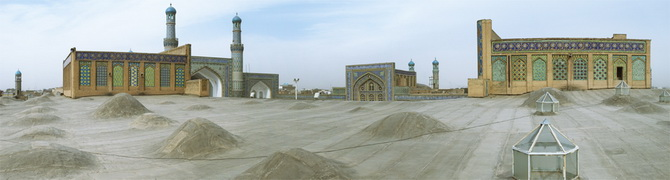 On the Roof of the Blue Mosque in Herat, January 2011