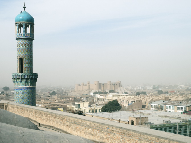 Bllue Mosque and Bala Hissar at Herat, January 2011