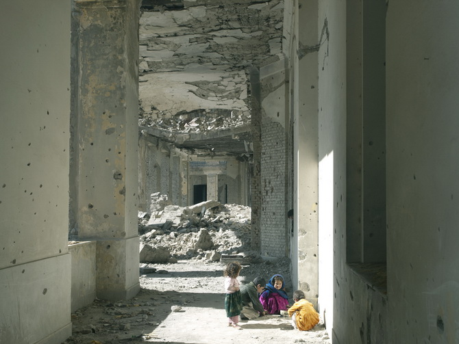 Inside the Ruin of Darulaman Palace, Kabul November 2010