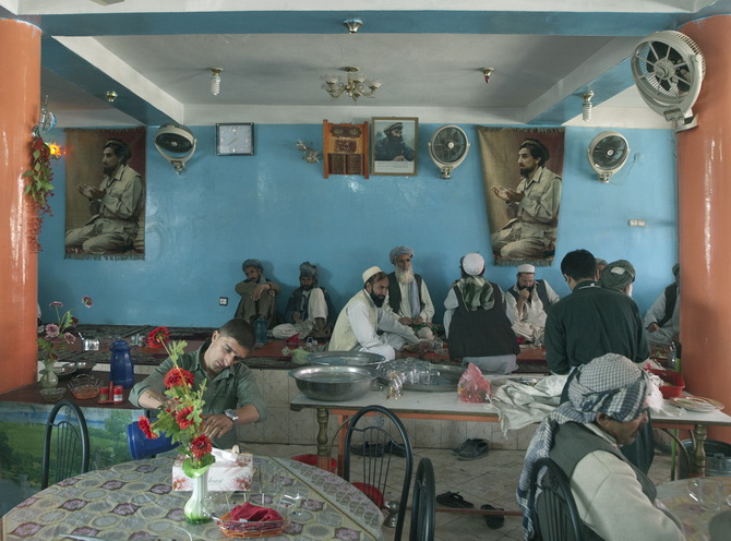 In a Restaurant in Mazar-e Sharif, October 2010