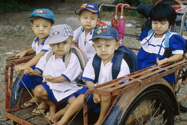 On the way to kindergarden, 2006
