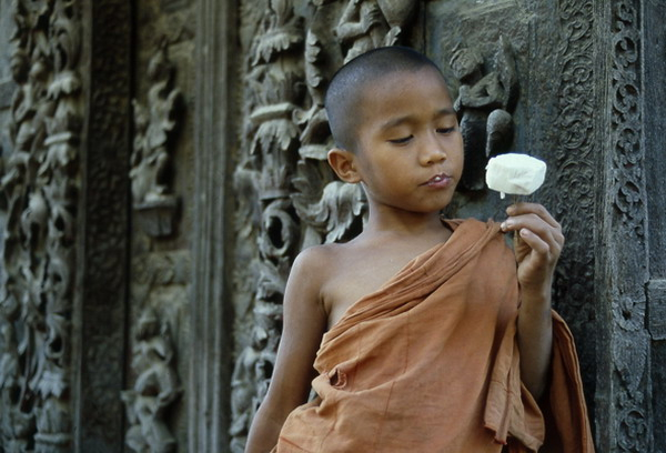 Novice with Ice Cream, Mandalay (1985)