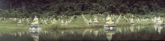 Garden with thousand Buddhas near Hpa´an