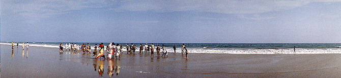 Beach at Puri, Orissa (1986)