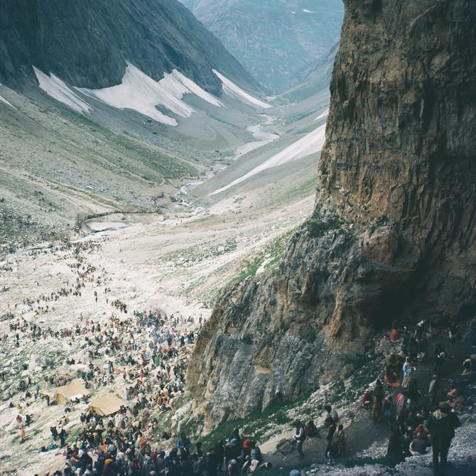 View from the Amarnath cave, 1974