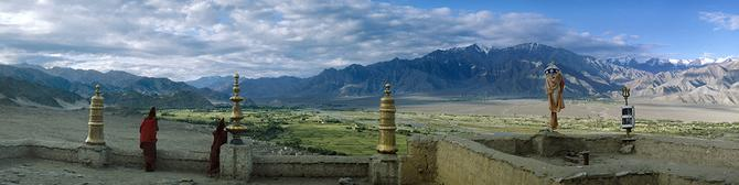 View from the roof of Tiksey gompa (1980)