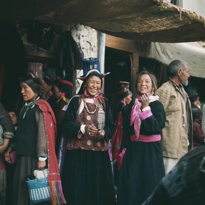 Ladakhi Ladies in the Bazaar of Leh, 1974