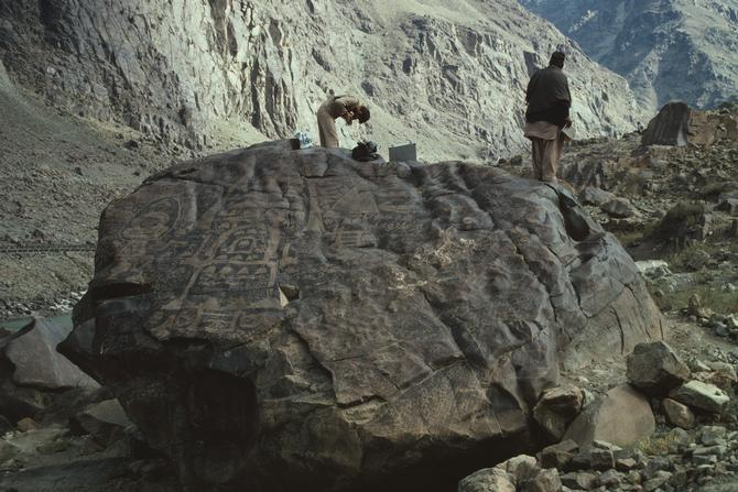Photographic Documentation of the Petroglyphes in the Area of Chilas, 1981