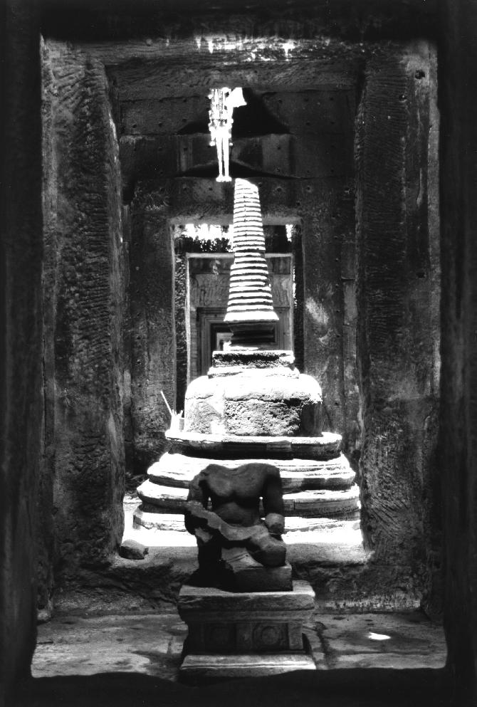 Central Stupa in Preah Khan, 15,4 x 22,5 cm
