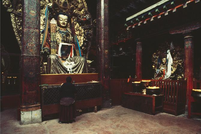 In the Jokhang in Lhasa, 1987